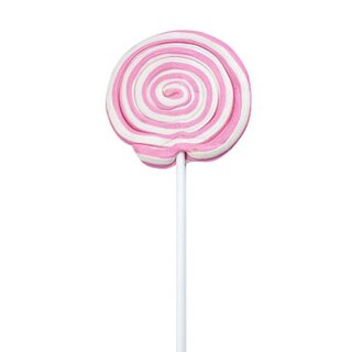 Sweetz Spiral Lolly rosa, weiß